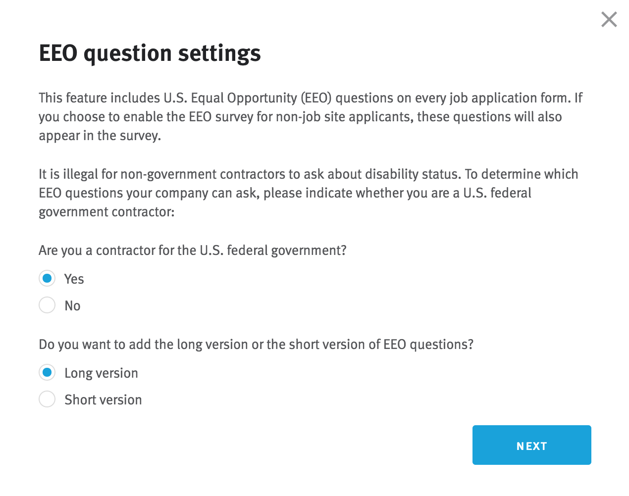 How do I enable EEO questions and export candidate responses ...