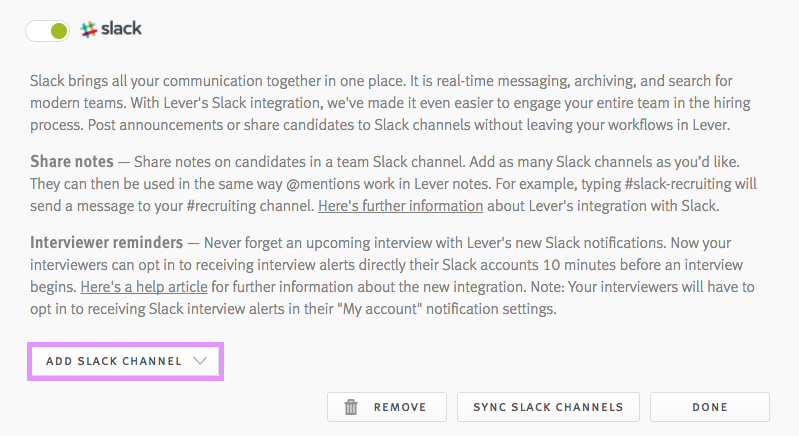 How do I enable interview alerts in Slack? – Lever Support