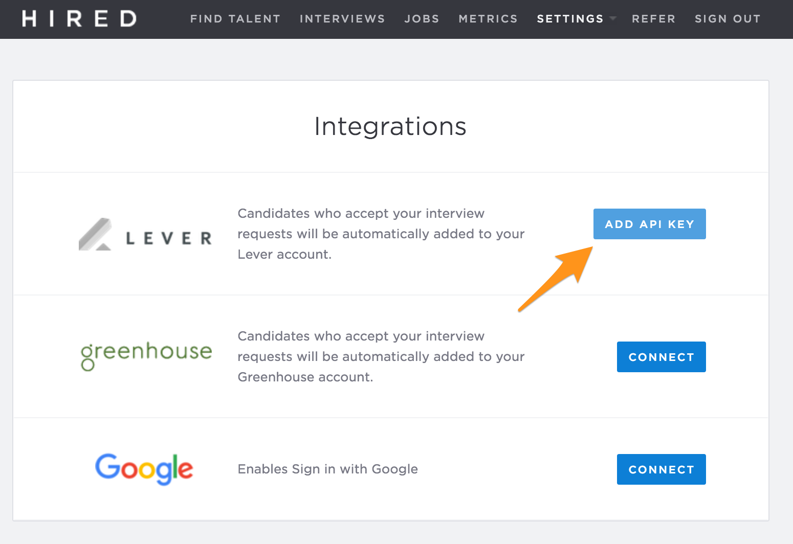 how do i import candidates from hired into lever lever when you re using hired and a candidate accepts your interview request the candidate will be sent to your lever account s new lead stage