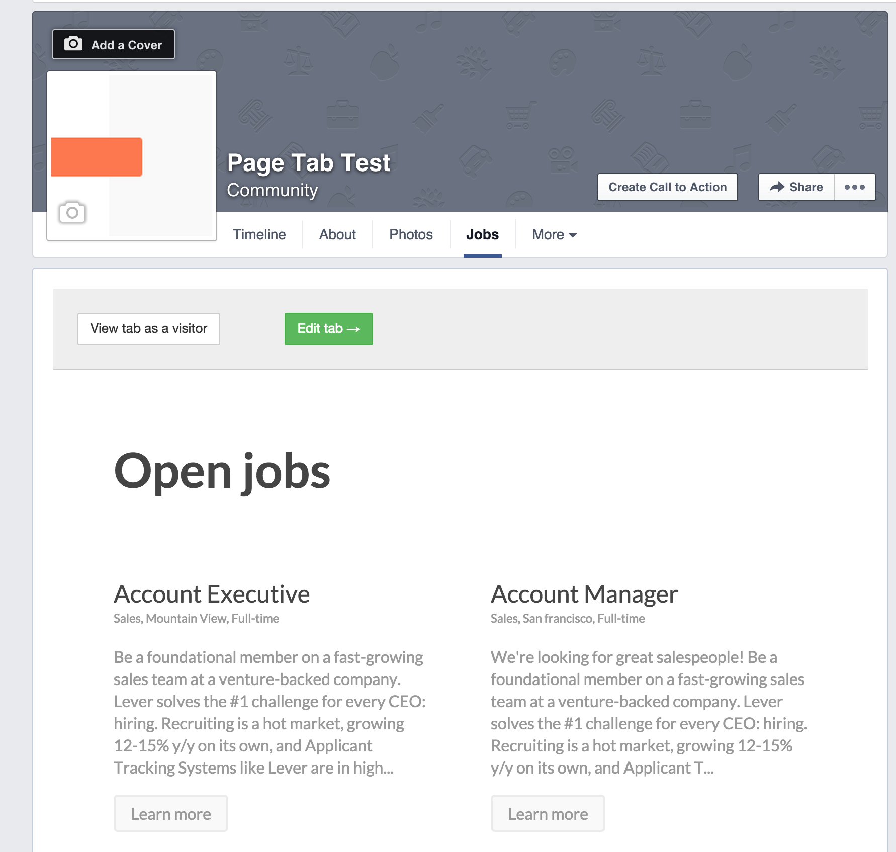 How To Add A Jobs Tab On Your Facebook Page Lever Support