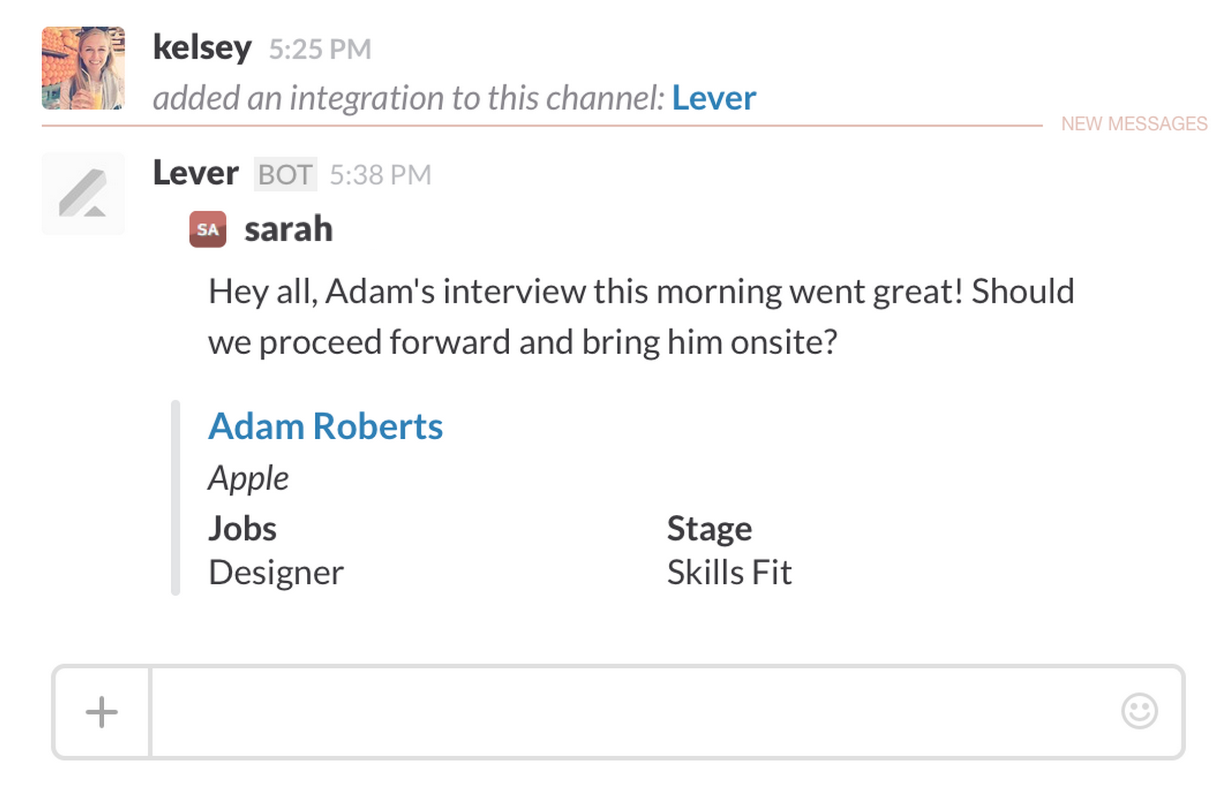 how do i enable an integration slack lever interview reminders never forget an upcoming interview lever s slack notifications easily configure interview alerts to be sent directly to your